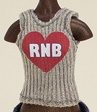 AmiGaTa tank top with RNB print