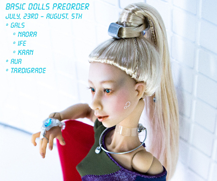 Tamikan Space basic dolls preorder (July 23rd – August 5th, 2018)