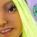 Smiling faceplate of Tamikan Space Gal Naora